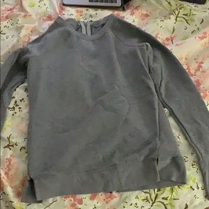 Crew neck sweater with BACK zip up